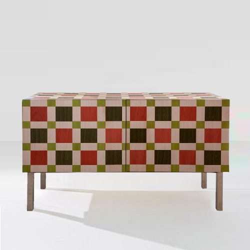GreenBrown-Chequered-Cabinet-light