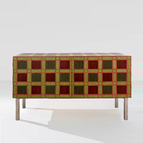 GreenBrown-Chequered-Cabinet